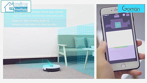 Thiết bị smarthome - Robot hút bụi thông minh goman 5