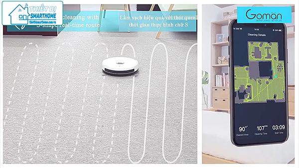 Thiết bị smarthome - Robot hút bụi thông minh goman 6.1