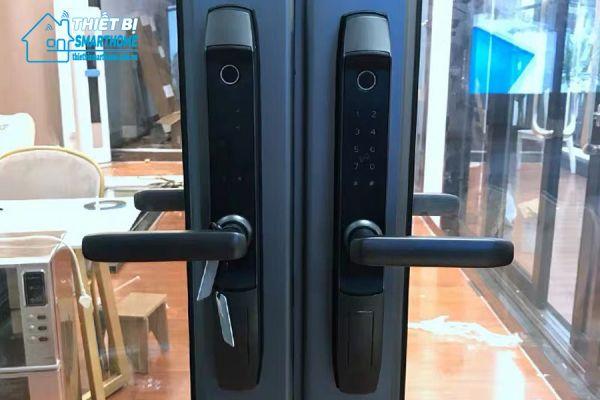 Thiết bị smarthome - Khóa cửa thông minh 5 in 1 Laffer R1 - black -1
