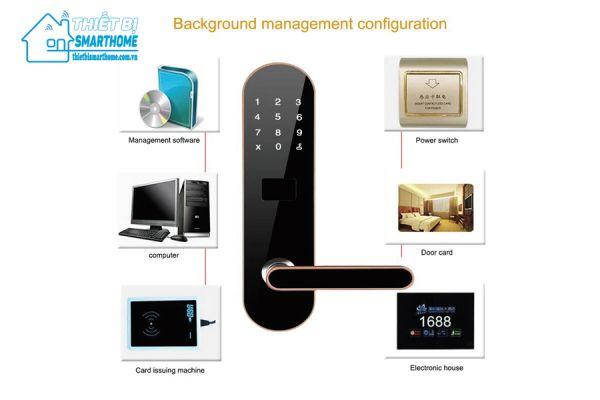 Thiết bị smarthome - Khóa thẻ từ khách sạn DSH605 - 1